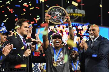 大会MVPに選出されたマーカス・ストローマン【写真:Getty Images】
