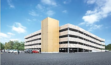埼玉病院向け立体駐車場の完成予想図