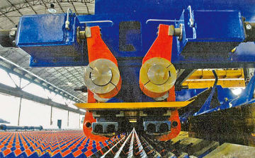 PT製の棒鋼ミル用高速搬送システム