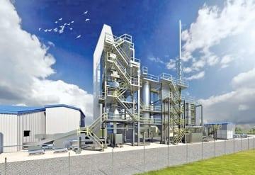 シャフト式ガス化溶融炉の完成イメージ図