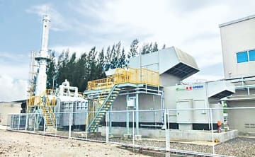 竣工した熱電供給設備