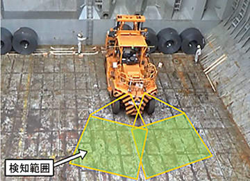 鋼材輸出船の船倉内での作業安全性が高まる