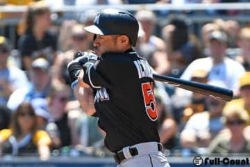 今季2号本塁打を放ったマーリンズ・イチロー【写真:Getty Images】