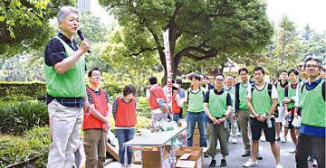 本社に近い日比谷公園・第一花壇で環境ボランティアを行った