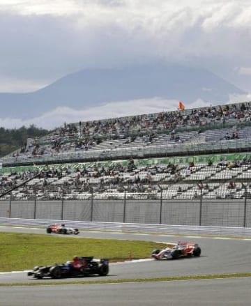 富士スピードウェイで2008年10月に行われたF1日本グランプリ=静岡県小山町