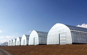 山梨県北杜市に初竣工した「低コスト耐候性ハウス