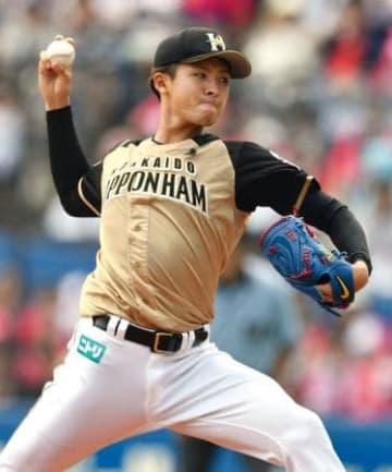 6回1失点で今季初勝利を挙げた日本ハム・上沢=ZOZOマリン