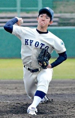春季リーグで2勝を挙げた京大の藤原(わかさスタジアム京都)