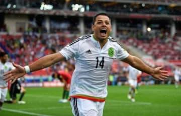 メキシコ代表で出場したコンフェデレーションズ・カップのポルトガル戦でのハビエル・エルナンデス=2日、モスクワ(ゲッティ=共同)