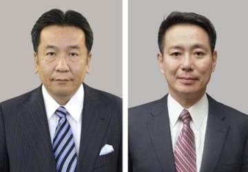 枝野幸男氏(左)、前原誠司氏