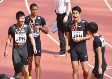 日本、男子400リレー決勝へ