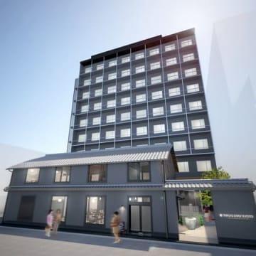 東急ステイが京都市中京区で開業を計画するホテルとレストランの完成イメージ図