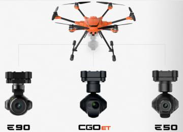 E90,CGOET,E50という3種類のカメラを用意
