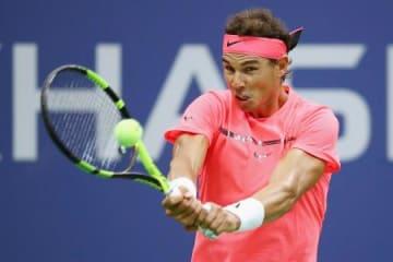 男子シングルス準々決勝 アンドレイ・ルブレフを下し、4強進出を果たしたラファエル・ナダル=ニューヨーク(ゲッティ=共同)