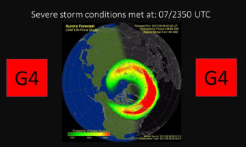 NOAA Friday, September 08, 2017 02:24 UTC http://www.swpc.noaa.gov/news/update-continued-g4-severe-geomagnetic-storming-observed