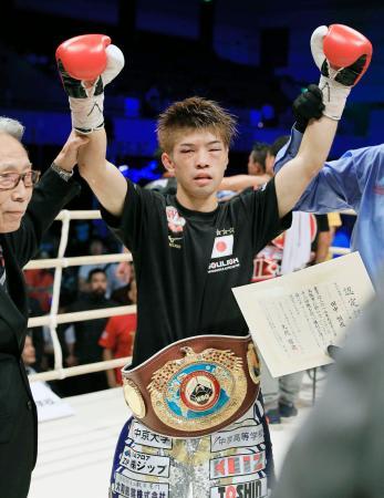 田中恒成、9回TKOでV2