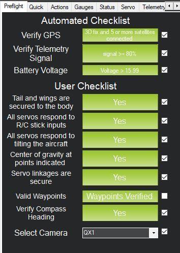 フライトの前に詳細なチェックができるPreflight Checklist