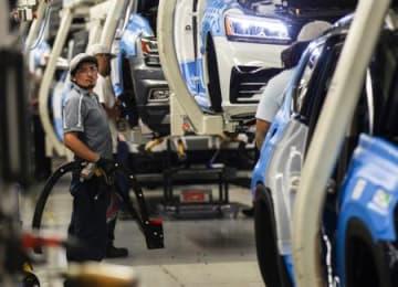 テネシー州の自動車工場=8月、チャタヌーガ(AP=共同)
