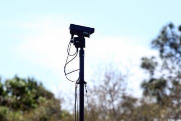 今年からPGAツアーの各会場のグリーン周りに、3台のカメラが設置されている Photo by J.J.Tanabe