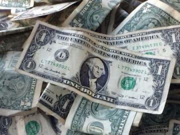 米1ドル紙幣(AP=共同)