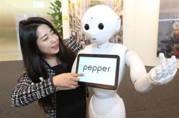 LGU+は京畿道の盆唐にある旗艦店にペッパーを導入する(同社提供)