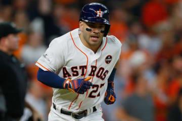 1試合3本塁打の活躍をみせたアストロズ・アルトゥーベ【写真:Getty Images】