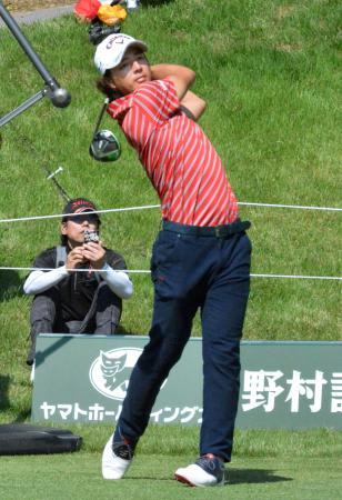 日本オープン選手権に向け最終調整する石川遼=岐阜関CC