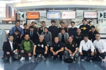 ブルガリアへ向けて出発した日本代表チーム=チーム提供