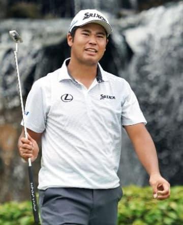 米男子ゴルフ、松山は23位発進