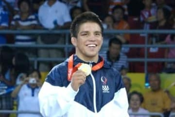 2008年北京オリンピックで金メダルを取ったヘンリー・セフード(米国)