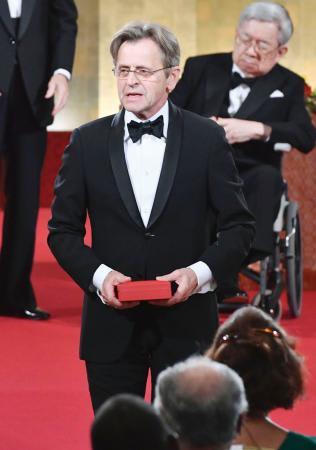 第29回高松宮殿下記念世界文化賞を受賞したミハイル・バリシニコフさん=18日夕、東京・元赤坂