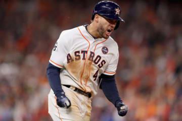 同点本塁打を放ったアストロズ・スプリンガー【写真:Getty Images】