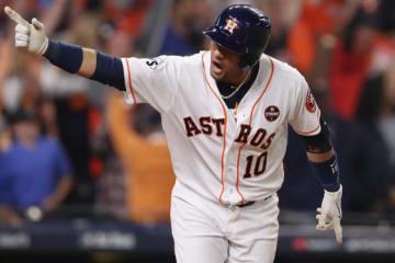 同点本塁打を放ったアストロズ・グリエル【写真:Getty Images】