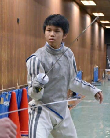 17歳以下の国際大会で団体銀メダルに貢献。12月の全日本選手権でも活躍を期す13歳の飯村一輝(龍谷大平安中・高)