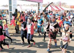 宮城県登米市の長沼周辺を会場に開催された「東北風土マラソン&フェスティバル」。市はイベント開催などで観光客数年間300万人を目指す