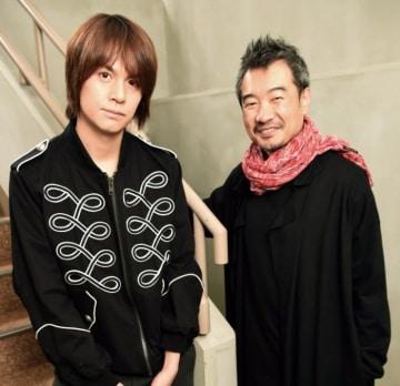「ペール・ギュント」主演の浦井健治(左)と演出のヤン・ジョンウン(酒巻俊介撮影)