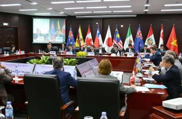 11月に開かれたTPP閣僚会合=ベトナム・ダナン(代表撮影)