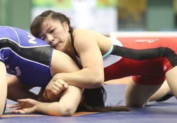 女子59キロ級で優勝した川井友香子=駒沢体育館