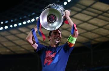 バルセロナでプレイしたシャビ photo/Getty Images
