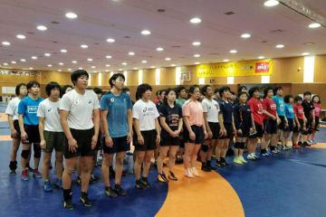 全日本選手権に出場した選手も含め、年末恒例の合宿がスタート