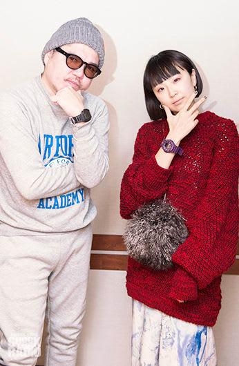 Young Juvenile Youthのゆう姫さん(右)と、番組パーソナリティのRIP SLYMEのRYO-Z(左)
