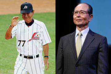 北京五輪では日本代表監督を務めた星野氏(左)と王会長【写真:Getty Images】
