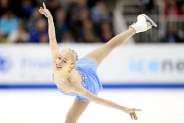 フィギュアスケート全米選手権の女子で初優勝したブレイディ・テネル=5日、サンノゼ(ゲッティ=共同)