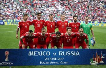 コンフェデレーションズカップ2017に臨んだロシア代表の面々 photo/Getty Images