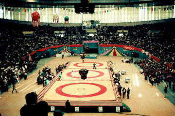 1万人を超える観客が詰めかけるテヘランのアザディ・スタジアム。18年ぶりの世界大会が実現するか