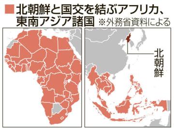 北朝鮮と国交を結ぶアフリカ、東南アジア諸国