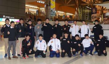イランへ向かった男子フリースタイルの全日本チーム