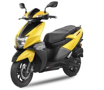 TVSモーターの新型スクーター「NTORQ125」はレーシング部門のデザインや機能も一部取り入れた(同社提供)