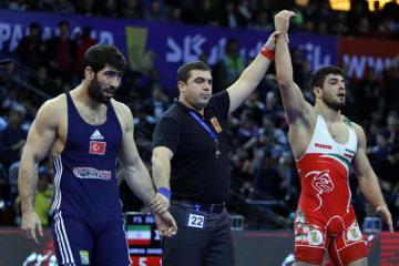 同郷のオリンピック&世界王者を追い上げるか、カムラン・ガセムプー(イラン)=提供・UWW