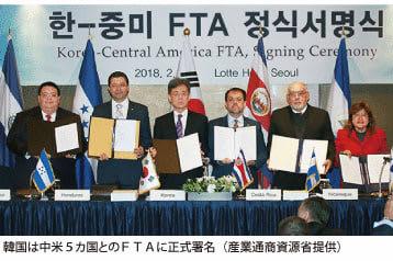 韓国は中米5カ国とのFTAに正式署名(産業通商資源省提供)